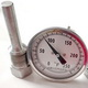 Thermomètre usagé, Thermomètre pour réservoir usagé, thermomètre Ashcroft usagé, thermomètre acier inoxydable, tank thermometer, Ashcroft thermowell, threaded thermowell, used Ashcroft thermometer, used Ashcroft bimetal thermometer